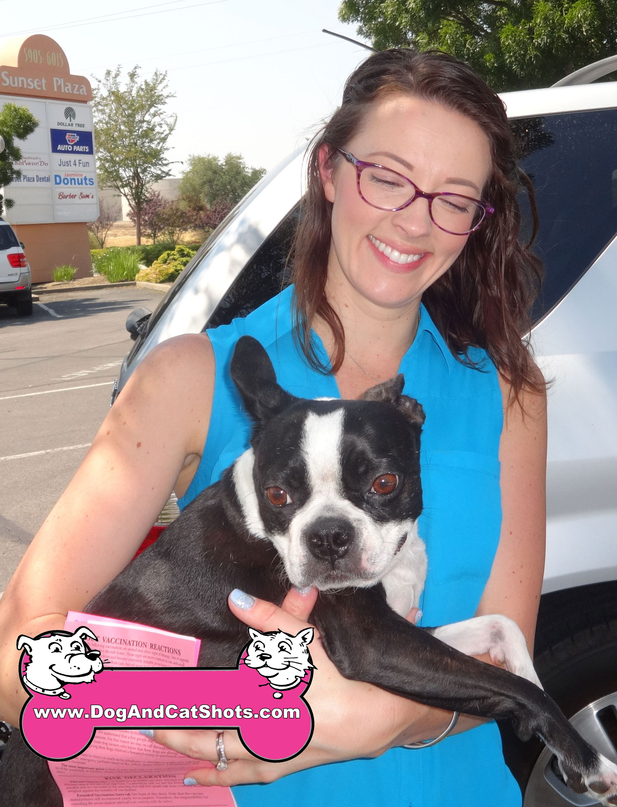 Izzy the Boston Terrier Visited our Rocklin Vaccination Clinic