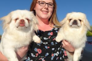 Lonnie and Patches The Pekingese Visited Us In Placerville