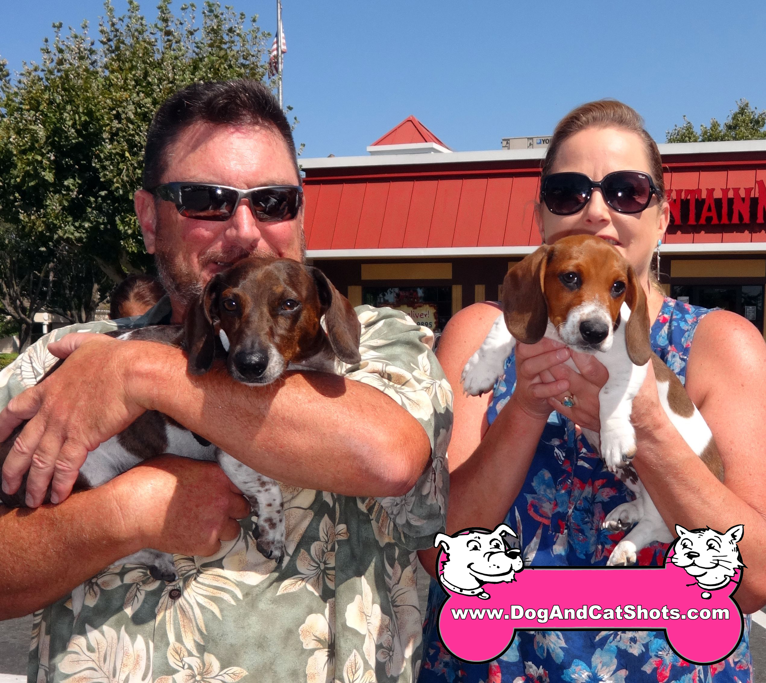 Barney and Sammy with their Humans at our Fairfield Suisun Caccination Clinic