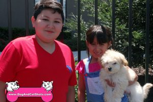 Max brought his two young humans with him to our pet vaccination clinic in Turlock